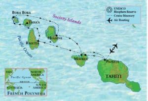 The Society Islands archipelago in French Polynesia