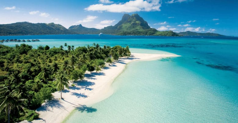 A beach on one of the French Polynesia islands