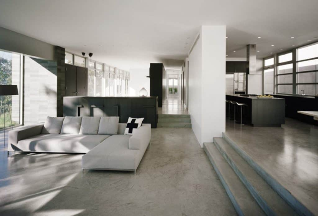 Floor design: Concrete living room